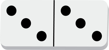 Dominoes Clip Art Double 12s {Black and White}