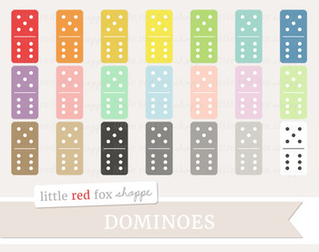 Domino Clipart; Game Piece, Vintage