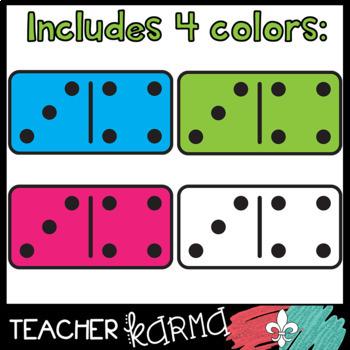 Domino Clipart * Math Manipulatives * 116 PCS
