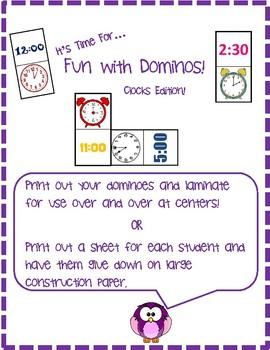Domino Clocks: Telling Time Center