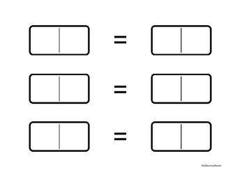 Domino Compose Decompose, 1st grade CCSS