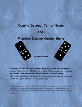 Domino Decimal Center Game (Station)