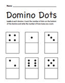 Domino Dots: Counting and Number Writing Exercise
