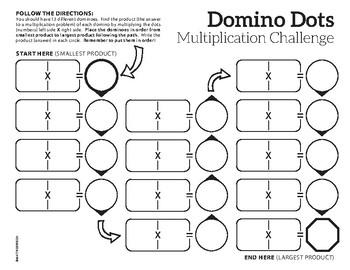 Domino Dots Multiplication Challenge