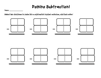 Freebie: Domino Double (2 Digit) Subtraction