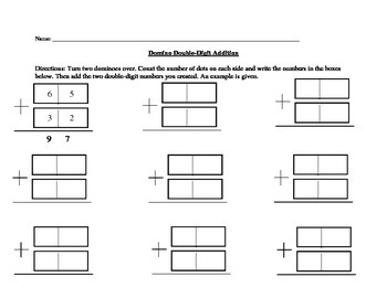 Domino Double-Digit Addition