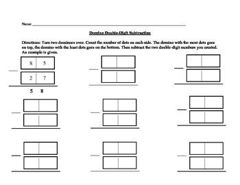 Domino Double-Digit Subtraction