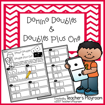 Domino Doubles and Doubles Plus One Addition Math Center