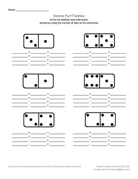 Domino Fact Families