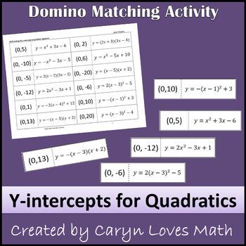 Y-INTERCEPT of Quadratic Equation-Standard-Vertex-Intercep
