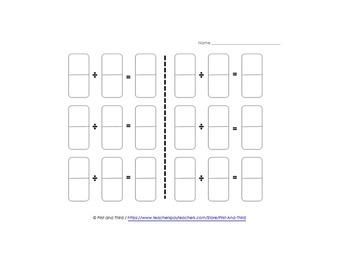 Domino Fraction Division
