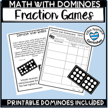 image relating to Dividing Fractions Games Printable called Domino Portion Online games, Incorporating Subtracting Multiplying and
