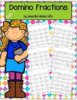 Domino Fractions Worksheets   Set 1   Math Fluency & Number Sense