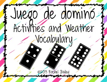 Domino Game - Activities and Weather Vocabulary ¡Exprésate
