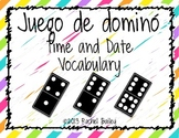 Domino Game - Spanish Time and Date Vocabulary