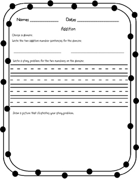 Domino Game: Word Problems with Dominos