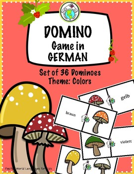 Domino Game in GERMAN Theme: Colors Set of 36