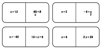Domino-Like Game One-Step Equations