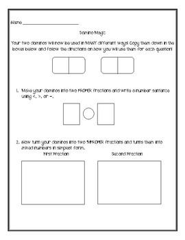 Domino Magic *Fourth Grade Review*