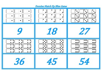 Domino Match-Up Blue Game