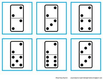 Domino Matching Game - Numbers 1-12