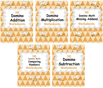Domino Math Worksheets Bundle
