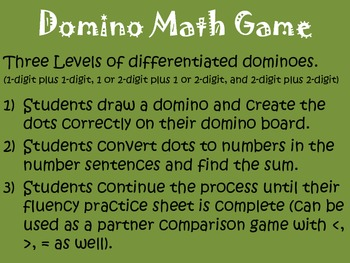 Domino Math Addition Practice