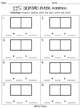 Domino Math: Addition and Subtraction Worksheets FREEBIE