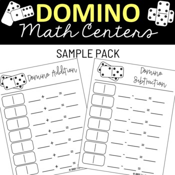 domino math center by the first grade cafe teachers pay teachers. Black Bedroom Furniture Sets. Home Design Ideas
