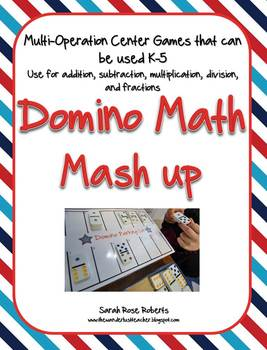 Domino Math Differentiated Center Game Pack
