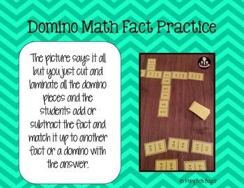 Domino Math Fact Practice