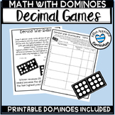 Domino Math Centers For The Year Decimal Games Printable