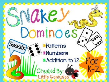 "Domino Math Games With A ""Snakey"" Twist"