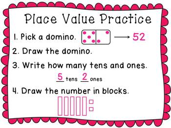 Dominoes Math Centers NO PREP Activities (Entire Year Set of Math Games)