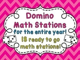 Dominoes Math Centers NO PREP Math Games (Entire Year Set of Fun Activities)