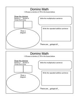 Domino Math Multiplication