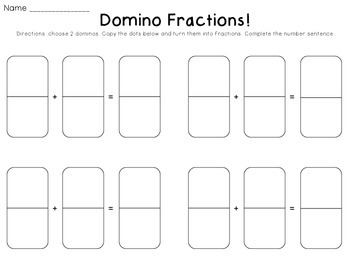 Domino Math Part 2: Fractions