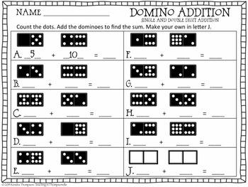Domino Math Sheets