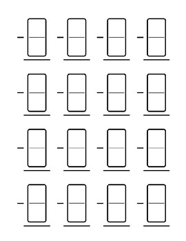 Domino Math Template- Addition and Subtraction