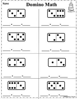 Domino Math ** Winter Addition**