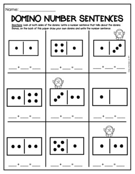 Domino Math Worksheets: Composing and Decomposing Numbers by Class ...