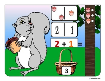 Autism Acorn Domino Counting and Addition