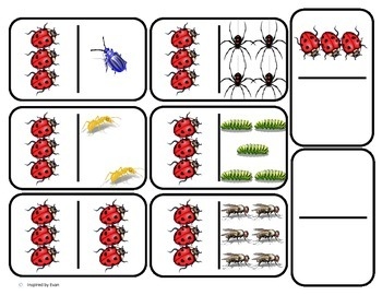 Domino Math with Bug Theme/Matching/One to One Correspondence for Autism