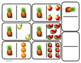 Domino Math with Fruit Theme/Matching/One to One Correspondence for Autism