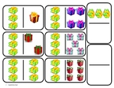 """Domino Math with """"Presents"""" Theme/Matching/One to One Correspondence for Autism"""