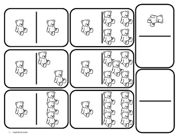 Domino Math with Teddy Bears Theme/Matching/One to One Correspondence for Autism