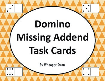 Domino Missing Addend Task Cards