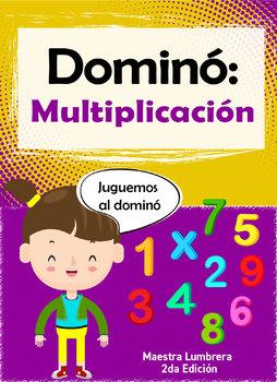 Dómino: Multiplicación: Fichas lúdicas