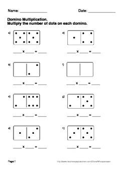 Domino Multiplication Worksheets