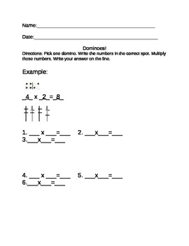 Domino Multiplication Activity